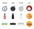 Vacation, travel, lighthouse, compass .Rest and travel set collection icons in cartoon,black,outline,flat style vector symbol stock illustration web.