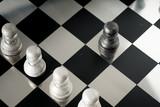 Chess business concept, leader teamwork & success - 220636997