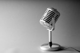 Retro style microphone in party or concert - 220637100