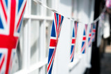 British & English national flag at the restaurant and pub, London - 220637187