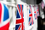 British & English national flag at the restaurant and pub, London - 220637352