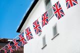British & English national flag at the restaurant and pub, London - 220637585