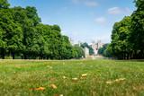 Long walk in Windsor castle, uk, london in summer - 220637935