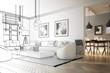 Raumadaptation: Wohnzimmer (Entwurf) - 220643733