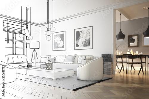 Raumadaptation: Wohnzimmer (Entwurf)