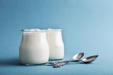 Greek yogurt in a glass jars - 220645160