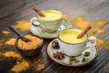 Traditional Indian drink turmeric milk - 220645335