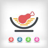Meat recipe concept icon - 220653935