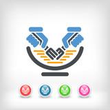 Illustration of spaghetti icon concept - 220653967