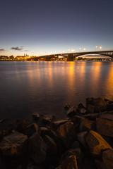 Cityscape of Mainz with Theodor-Heuss-Bridge © Fabian