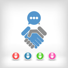 Dialogue for agreement © Myvector