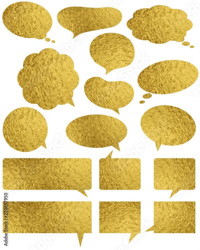 Set of golden glossy labels...