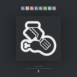 Meat fork icon - 220659364