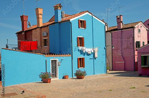 Burano wonderful little island in the venetian lagoon northern Italy