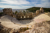 Ancient amphitheater at the base of the Acropolis, Athens - 220671373