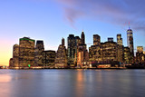 New York City Lower Manhattan at Dusk - 220677392