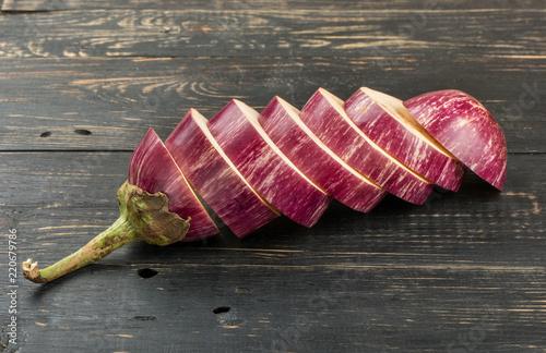 Eggplant with slices