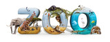 Zoo 3D Word and Animal Composite - 220685772