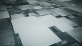 Flying gray squares abstract geometric background. Seamless loop 3D render animation 4k UHD 3840x2160  - 220686788