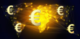 Euro currency as a global means of payment.3d illustration - 220696559