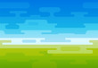 Vector background of Field at Sunny Day in Creative Flat Style - 220703182