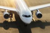 Detail of commercial jetliner forcing on runway - 220703962