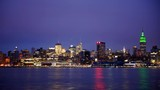 Time Lapse of New York City Skyline with Famous Corporate Building Dusk to Night - 220705105