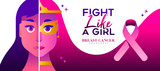 Fight like a girl Breast Cancer Awareness concept - 220710340