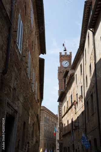 Fototapeta Views of Pienza's Cathedral and main square