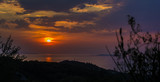 Beautiful sunset at Corfu, Greece