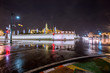 King's Palace(Grand palace)at Thailand night in the rain. Beautiful to another. Located in Bangkok
