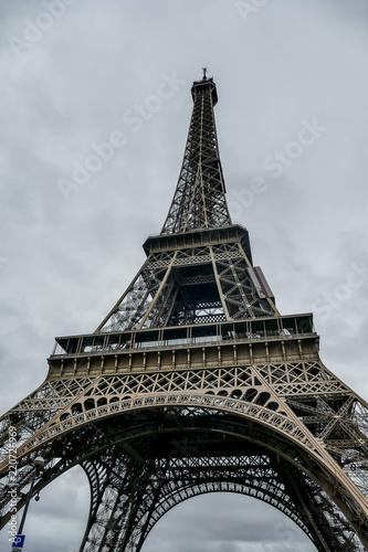 Foto Murales Eiffel Tower, Photo image a Beautiful panoramic view of Paris Metropolitan City