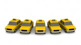 Yellow taxi wifi on white background. 3d rendering - 220737147