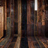 Empty wooden perspective background and texture with space. - 220749793
