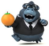 Fun gorilla - 3D Illustration - 220759336
