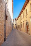 pavement of old narrow street in San Marino  - 220761172