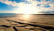Leinwandbild Motiv Nordsee, Strand auf Langenoog: Dünen, Meer, Ebbe, Watt, Wanderung, Entspannung, Ruhe, Erholung, Ferien, Urlaub, Meditation :)