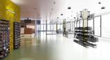 Negozio, Centro Commerciali, Architettura, Tecnologia, Illustrazione 3d - 220768799