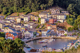 Picturesque fishing village of O Barqueiro in Galicia, Spain. - 220769168