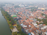 Aerial view of residential complex in Tangerang, Indonesia. - 220773585