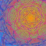 Geometric mandale painting