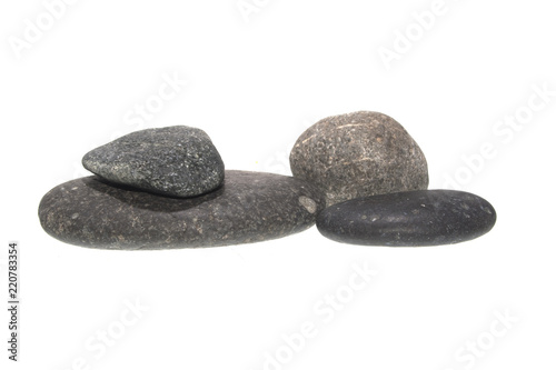Foto Murales stone isolated on white background