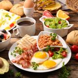 healthy breakfast on table