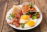 english breakfast on wood - 220784954
