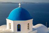 Oia, Santorini. Close up image of Greek Church located at the island of Santorini, South Aegean, Greece. - 220789923