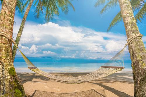 Beautiful Tropical Beach blue ocean background Summer view Sunshine at Sand and Sea Asia Beach Thailand Destinations