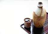 japanese sake oriental drink style on the table - 220797365