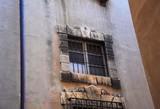 Baroque stone window on ancient building facade, - 220803303