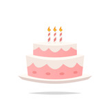 Birthday cake cartoon vector - 220806337