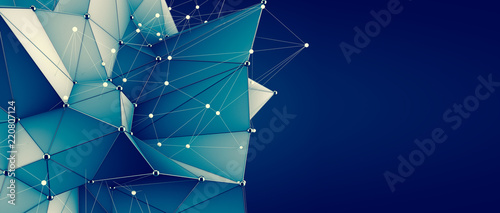 Crystal structure background. 3d illustration, 3d rendering. - 220807124